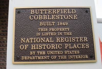 Butterfield Cobblestone Marker image. Click for full size.