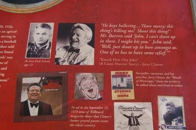 Jerry Clower Marker image. Click for full size.