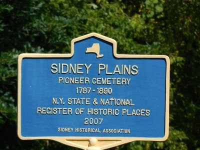 Sidney Plains Marker image. Click for full size.