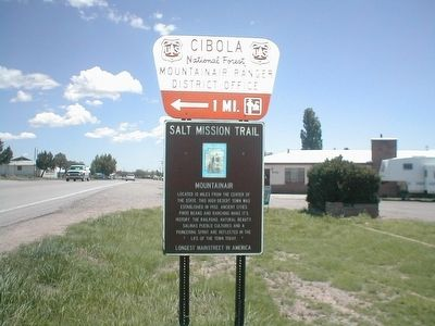 Salt Mission Trail Marker image. Click for full size.