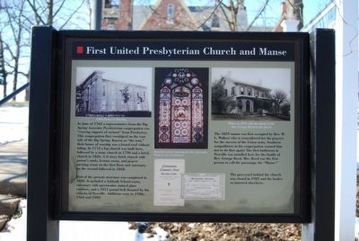 First United Presbyterian Church and Manse Marker image. Click for full size.