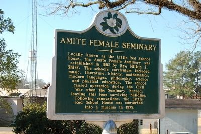 Amite Female Seminary Marker image. Click for full size.
