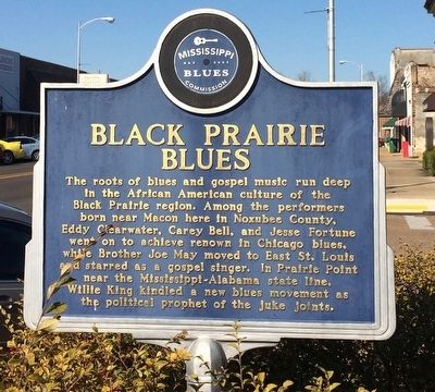 Black Praire Blues Marker (Front) image. Click for full size.