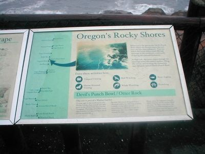 Oregon's Rocky Shores Marker image. Click for full size.