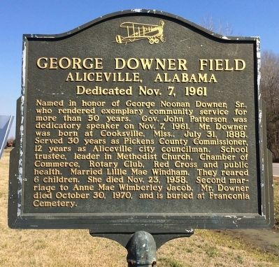 George Downer Field Marker image. Click for full size.