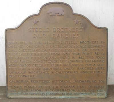 Steele Brothers Dairy Ranch Marker image. Click for full size.