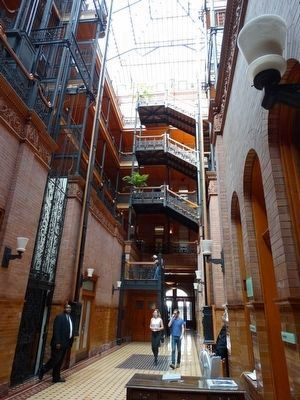 Bradbury Building Interior image. Click for full size.