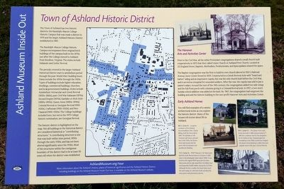 Town Of Ashland Historic District Marker image. Click for full size.