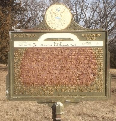 Forestburg Roadside Park Marker image. Click for full size.