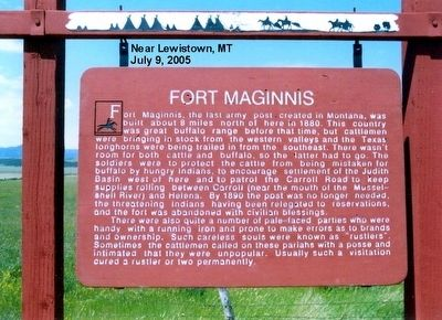 Fort Maginnis Marker image. Click for full size.