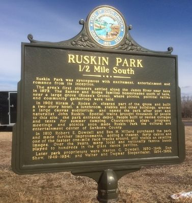 Ruskin Park Marker image. Click for full size.