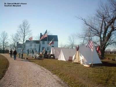 Dr. Samuel A. Mudd House-Reenactment image. Click for full size.