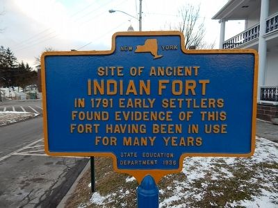 Site of Ancient Indian Fort Marker image. Click for full size.