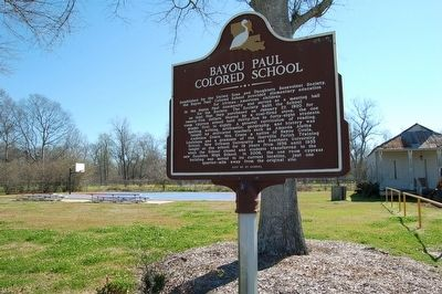 Bayou Paul Colored School and Marker image. Click for full size.
