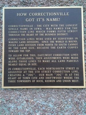 How Correctionville Got It's Name! Marker image. Click for full size.