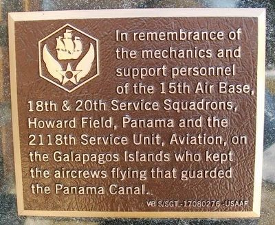 15th Air Base Marker image. Click for full size.