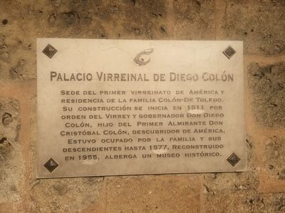 Palace of the Viceroy Diego Colón Marker image. Click for full size.