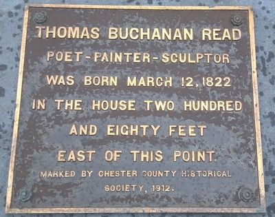 Thomas Buchanan Read Marker image. Click for full size.