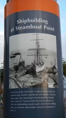 Shipbuilding at Steamboat Point Marker image. Click for full size.