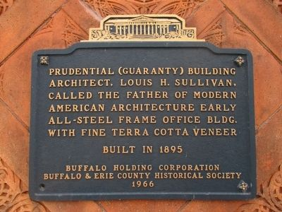 Prudential (Guaranty) Building Marker image. Click for full size.