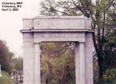 Entrance Arch-Vicksburg National Military Park image. Click for full size.