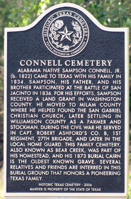 Connell Cemetery Marker image. Click for full size.