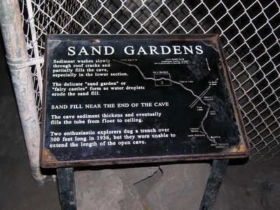 Lava River Cave Marker<br>Sand Gardens image. Click for full size.