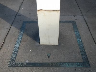 The base of the Beale Street Wharf Marker image. Click for full size.