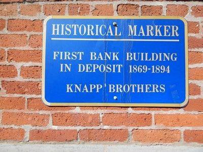 First Bank Building In Deposit Marker image. Click for full size.