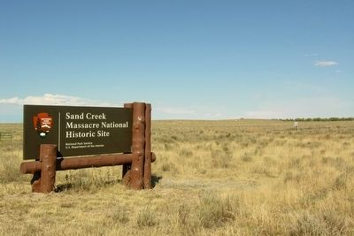 Entrance to Sand Creek Massacre NHS image. Click for full size.