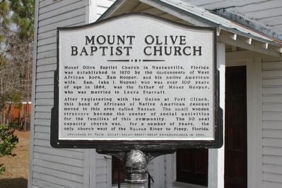 Mount Olive Baptist Church Marker Side 1 image. Click for full size.