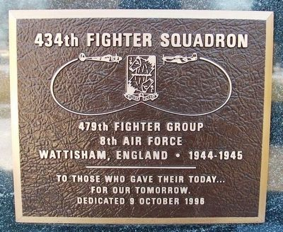 434th Fighter Squadron Marker image. Click for full size.
