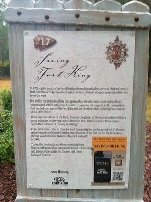 Tour stop about Fort King image. Click for full size.