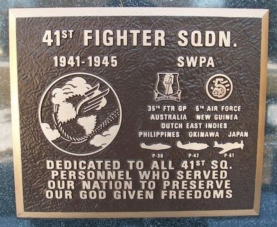 41st Fighter Sqdn. Marker image. Click for full size.