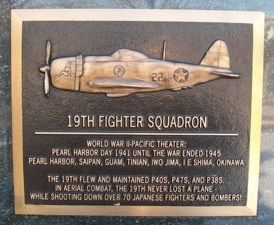 19th Fighter Squadron Marker image. Click for full size.