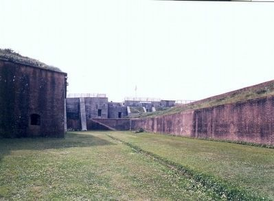 Fort Morgan-Inside view image. Click for full size.
