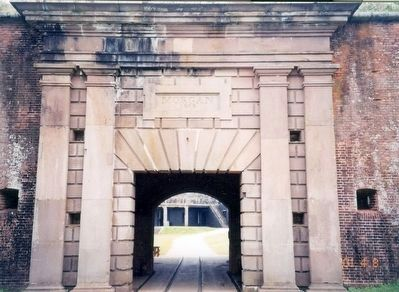 Fort Morgan-entrance arch image. Click for full size.