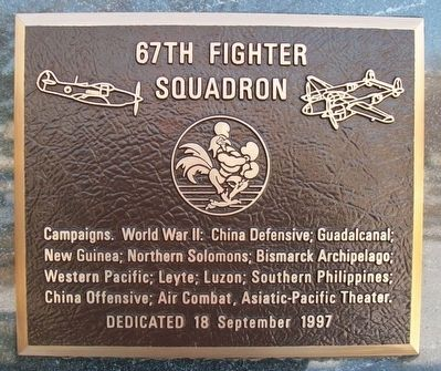 67th Fighter Squadron Marker image. Click for full size.