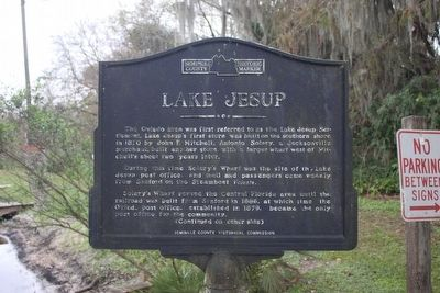 Lake Jesup Marker Side 1 image. Click for full size.