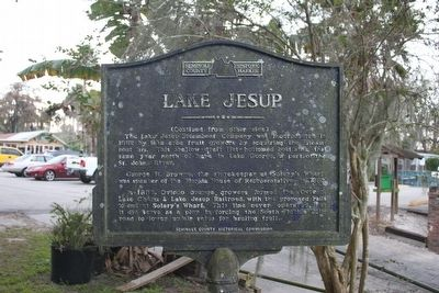 Lake Jesup Marker Side 2 image. Click for full size.