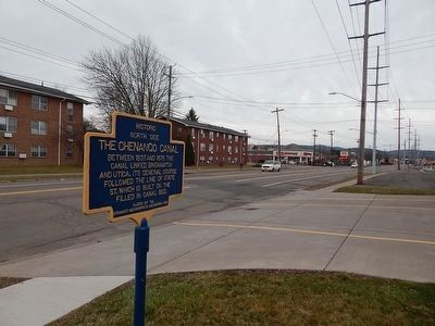 Historic North Side-The Chenango Canal Marker image. Click for full size.