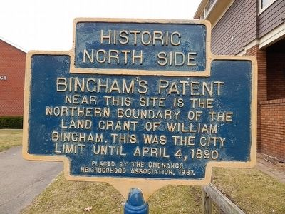 Historic North Side-Bingham's Patent Marker image. Click for full size.