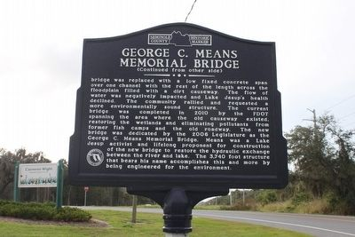 George C. Means Memorial Bridge Marker-Side 2 image. Click for full size.