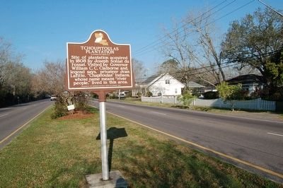 Tchopitoulas Plantation Marker image. Click for full size.