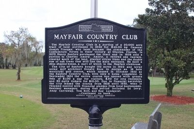 Mayfair Country Club Marker-Side 1 image. Click for full size.