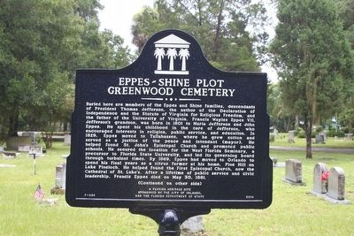 Eppes-Shine Plot Greenwood Cemetery Marker-Side 1 image. Click for full size.
