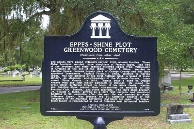 Eppes-Shine Plot Greenwood Cemetery Marker-Side 2 image. Click for full size.