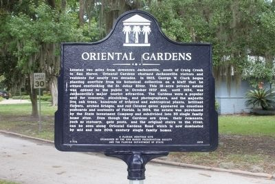Oriental Gardens Marker image. Click for full size.