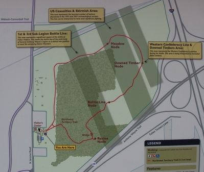 Map of the Fallen Timbers Metropark's Walking Trail image. Click for full size.