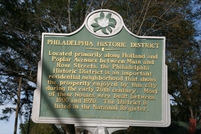 Philadelphia Historic District Marker image. Click for full size.